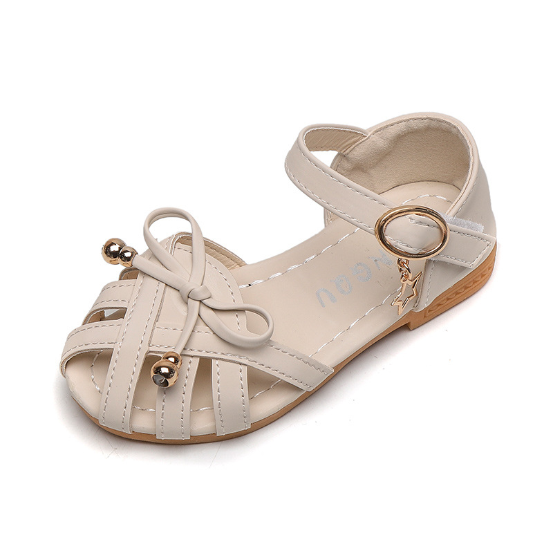 Kids Sandals Girls Sandals Children Summer Shoes 2020 New Hot Cut-outs Princess Sweet Soft Leather Sandals With Bowtie Bow 21-35