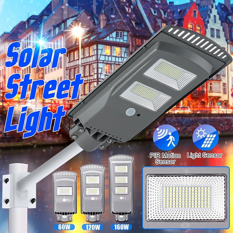 60W 120W 160W LED Solar Street Light PIR Motion Sensor Outdoor Lighting Garden Wall Lamp