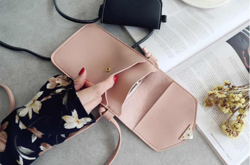 Universal couro celular bolsa de ombro bolsa de bolso carteira caso alça de pescoço para samsung s10 para iphone x 8 para huawei p30 v20