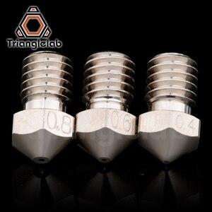 Image 4 - Trianglelab T V6 Überzogene Kupfer Düse Langlebig nicht stick hohe leistung für 3D drucker hotend M6 Gewinde für E3D V6 hotend