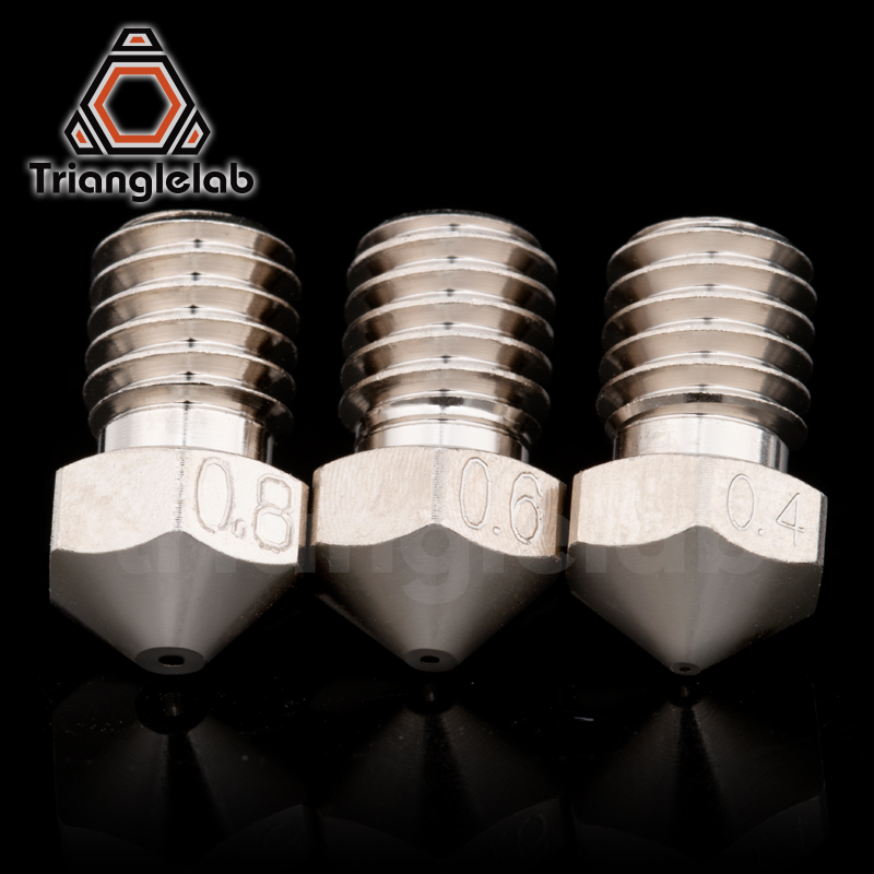 lowest price trianglelab T-V6 Plated Copper Nozzle Durable non-stick high performance for 3D printers hotend  M6 Thread  for E3D V6 hotend