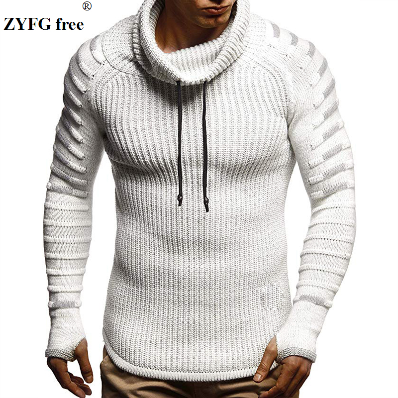 New Winter Tops Men Fashion Casual Sweater Mens Keep Warm Knitwear Sweater Turtleneck Solid Color Sweater For Men Coat Plus Size