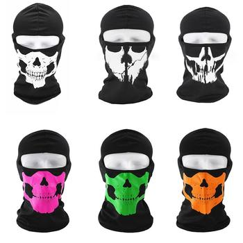 Outdoor Skull Balaclava Full Face Mask Bicycle Cycling Tactical Airsoft Liner Snowboard Hat Military Ski Warm Ride Bike Hel K5N9 image