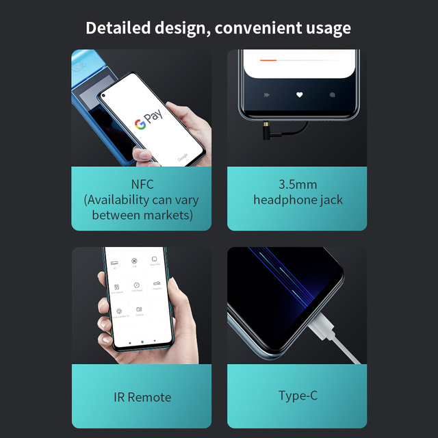 "Redmi Note 9 Global Version 3GB+64GB Xiaomi SmartPhone MTK Helio G85 Octa Core 48MP Quad Rear Camera 6.53"" 5020mAh 5"