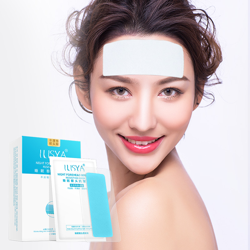 Ilisya Forehead Wrinkle Patch Anti-wrinkle Moisturizing Facial Strips Mask With Hydrocolloid Gel To Smooth Frown Lines