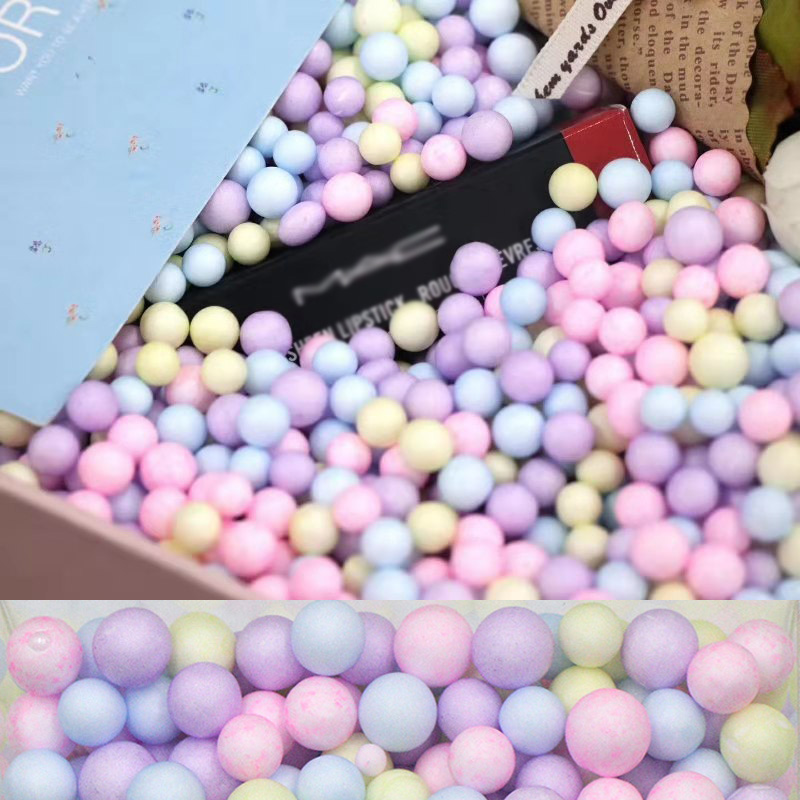 8000pcs 2-4mm / 1000pcs 5-10mm Foam Balls Craft Bubble Ball Gift Box DIY Small Tiny Foam Beads Ballon Foam Filler Party Decor