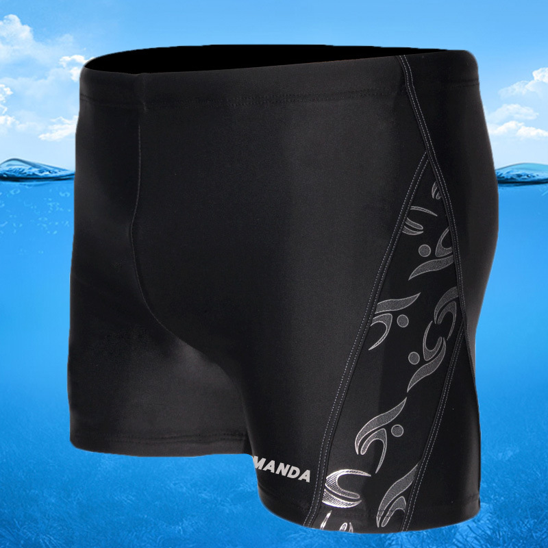 MEN'S Swimming Trunks MEN'S Boxers Head Loose-Fit-Knicker Bathing Suit Adult Large Size Trunks Sports Fashion Models Fashion