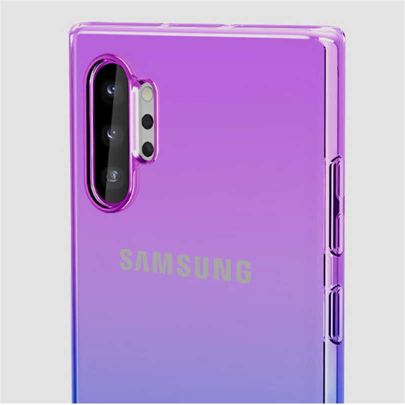 Silicone macio Caso Transparente para Samsung Galaxy Note 10 Plus 8 9 10 Limpar Ultra Slim Capa Shell