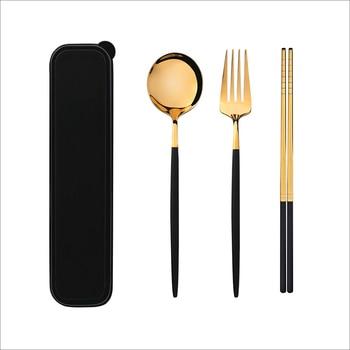 TUUTH Dinner Set Cutlery Stainless Steel Tableware Knife Fork Spoon Dinnerware Set with Box Western Dinner Tools