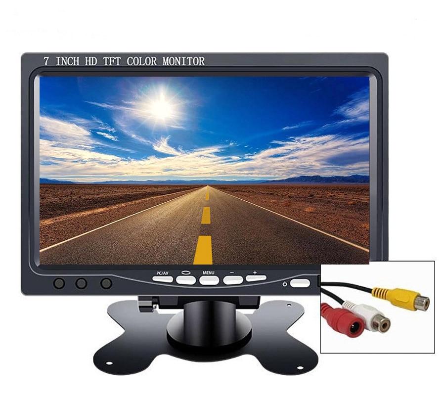 "7/"" TFT LCD Color 4 Split Video 4-CH Input Car Rear View Monitor HD 800X480 US"