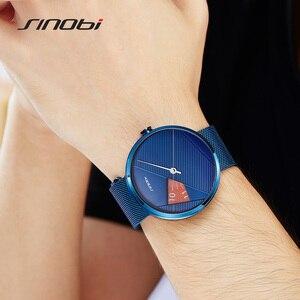 Image 3 - Sinobiブランドファッションクリエイティブメンズクォーツ時計ミラノストラップ腕時計高級ビジネス腕時計スポーツ腕時計レロジオmasculino