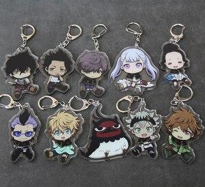 1PCS Anime Cartoon Key Chains Black Clover Action Figure Acrylic Keychain Pendant Cosplay Keyring Fashion Jewelry Key Ring Gifts(China)