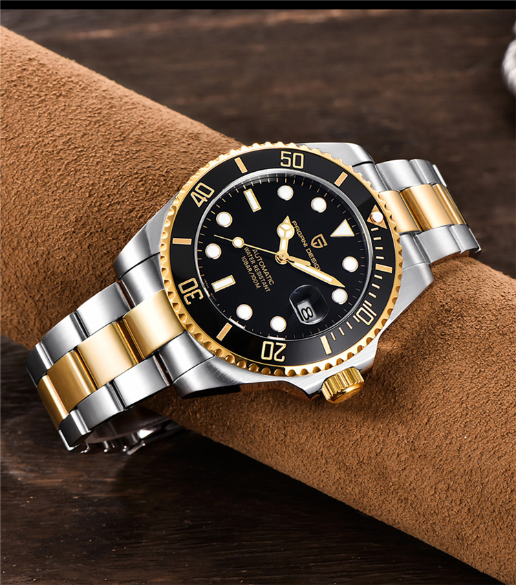 H9b3795879cef4b90813441cc3ea6f8f46 PAGANI Design Brand Luxury Men Watches Automatic Black Watch Men Stainless Steel Waterproof Business Sport Mechanical Wristwatch