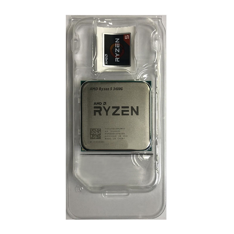 AMD Ryzen 5 3400G R5 3400G 3.7GHz Quad-Core Eight-Thread 65W CPU Processor L3=4M Desktop Socket AM4 NEW