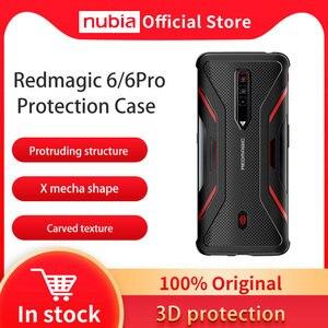 Image 1 - جراب واقٍ Nubia أصلي 100% لهاتف RedMagic 6 Pro الذكي غطاء فائق النحافة مقاوم للصدمات لهاتف Red Magic 6 جراب واقٍ
