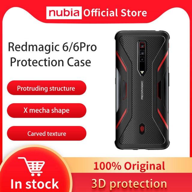 جراب واقٍ Nubia أصلي 100% لهاتف RedMagic 6 Pro الذكي غطاء فائق النحافة مقاوم للصدمات لهاتف Red Magic 6 جراب واقٍ