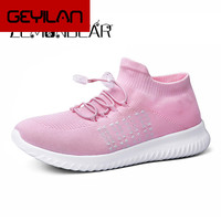 Breathable Mesh Autumn Shoes Woman Comfortable Cheap Casual Ladies Shoes New Outdoor Sport Women Sneakers for Walking Socks shoe