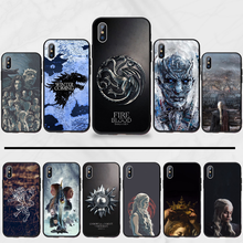 Game Of Thrones Wolf Draak Amerikaanse Kreeg Cool Telefoon Case Cover Voor Iphone 5 5s 5c Se 6 6s 7 8 Plus X Xs Xr 11 pro Max(China)
