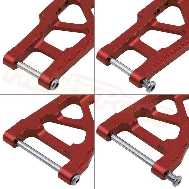 Metalowe aluminiowe zawieszenie tylne ramiona Susp dla Traxxas Stampede VXL 2WD 1/10 Monster Truck / Rustler VXL 2WD opcja części zamienne