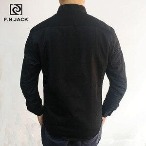 Image 3 - F. n. שקע 2019 הגעה חדשה Mens חולצה ארוך שרוול גולגולת דפוס עבה גבר חולצות מקרית חורף זכר חולצות