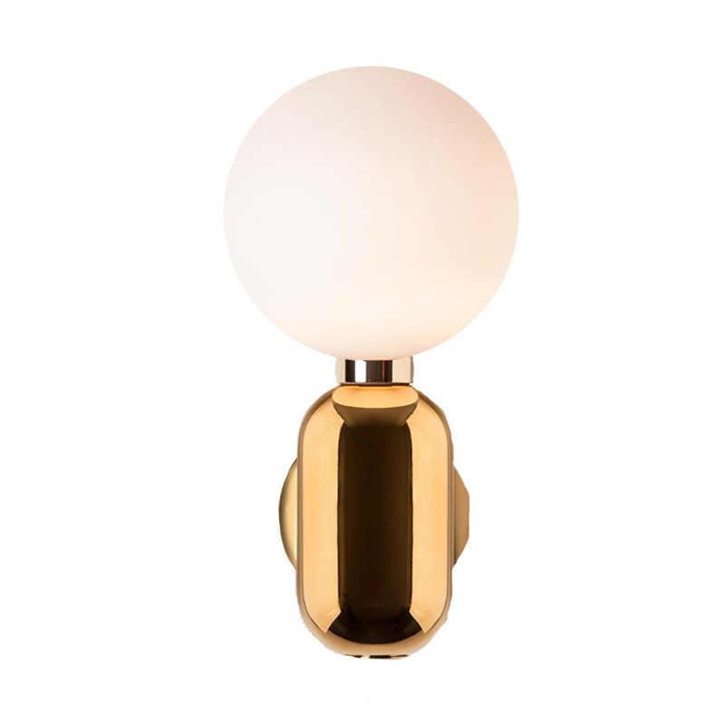 מודרני זכוכית כדור חדר שינה קיר ליד מיטת מנורת E27 מחזיק 110-240v מקורה שולחן מנורת מבואה דקורטיבי אורות דקו maison