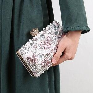 Image 5 - Luxy Moon المرأة مساء حقيبة صغيرة حجر الراين مخلب محفظة السيدات حقائب اليد حقائب الزفاف محفظة حقيبة حفلات ZD848