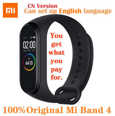 Originele Xiao Mi Mi Band 4 Smart Horloge Amoled Kleurenscherm Heartrate Fitness Sport 50ATM Waterdichte Smart Armband Bluetooth 5.0