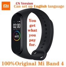 מקורי Xiaomi Mi Band 4 חכם שעון AMOLED צבע מסך דופק כושר ספורט 50ATM עמיד למים חכם צמיד Bluetooth 5.0