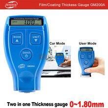 Medidor de espesor para revestimiento de pintura de coche, GM200A beneech, Manual en ruso e inglés