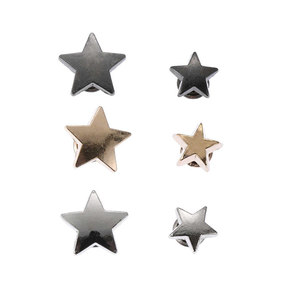 20 قطعة معدنية نجوم المسامير Clothing بها بنفسك الملابس قبعة حقيبة الأحذية الجلدية الحرف لوازم الديكور الملابس الخياطة الزجاج الحفر مسمار زر