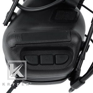 Image 5 - KRYDEX Tactical Headset With Micphone Peltor Black Noise Reduction Sound Pick Up Communication Electronic Detachable Headphone