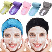 Bandeau de serviette bandeau de sueur bandeau de tête anti-dérapant extensible lavable bandeau de cheveux pour le maquillage de lavage de visage de sport