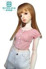 Pasuje 58cm-60cm sferyczne wspólne lalki 1/3 lalka BJD SD ubrania moda koszula w kratę, jeansowa spódniczka, krótka spódniczka