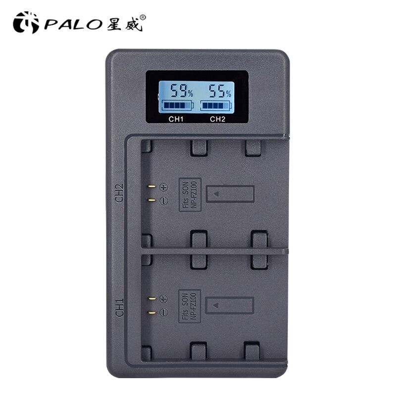 Battery-Charger Alpha Digital Sony NP-FZ100 PALO for A9 A7r-iii/A7r/Mark-3/.. LCD