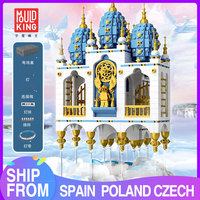 MOULD KING MOC 16015 Streetview Floating SKY Castle House Fantasy Fortress Model with Lepining Building Blocks Bricks Kids Toys