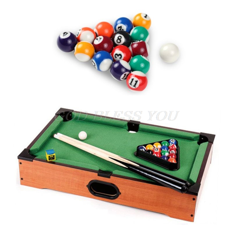 16pcs 25mm Resin Mini Billiard Ball Children Toy Small Pool Cue Balls Full Set