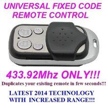 Universal remote control replacement clone duplicator Fixed code 433.92MHz for RIB WECLA RONDY TSAW2 SEAV BE HAPPY S2 TXS1 TXS2  STARTEC TX-Q2 TAU TELCOMA Tango2,Tango4 Tango2SW for seav txs1 txs2 txs3 txs4 compatible remote control replacement 433 92mhz free shipping