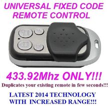 Universal remote control replacement clone duplicator Fixed code 433.92MHz for came FAAC HYPERPHONE MPSTF2E IUPPITER RJW12 MA SYSTEM TX2 NICE FLO1 FLO2  FLO4,