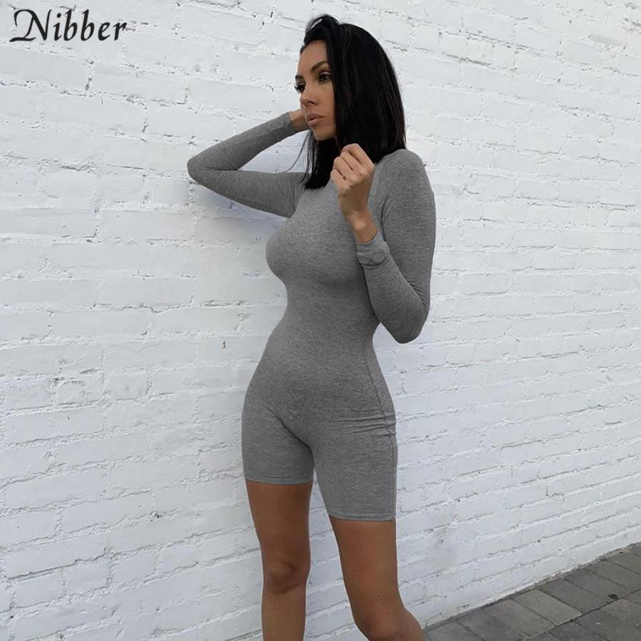 Nibber casual einfache bodycon biker shorts frau reine weiche straße overall weiblichen sommer elastische Grund strampler overall körper mujer
