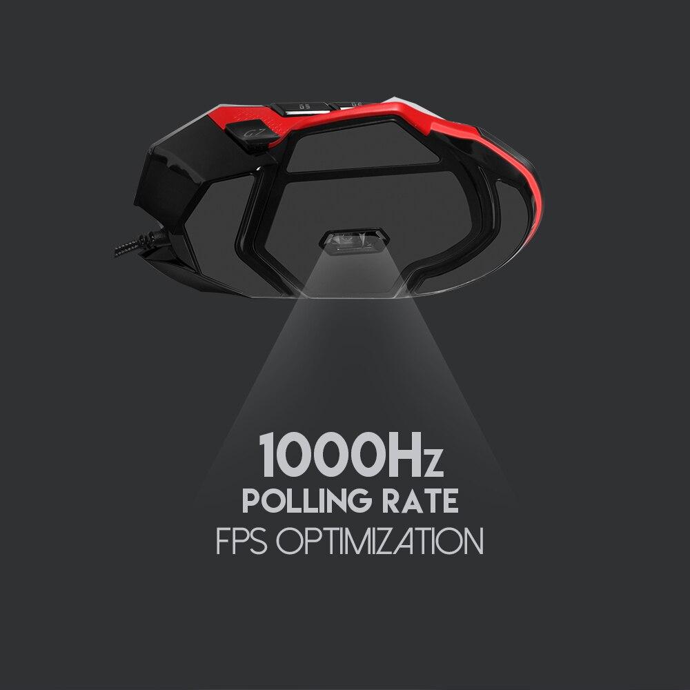 Image 5 - Fantech X11 8D макро Регулируемая 8000 dpi эргономичная мышь игровая мышь USB Оптический кабель мышь Мыши для FPS LOL мышь геймер-in Мыши from Компьютер и офис