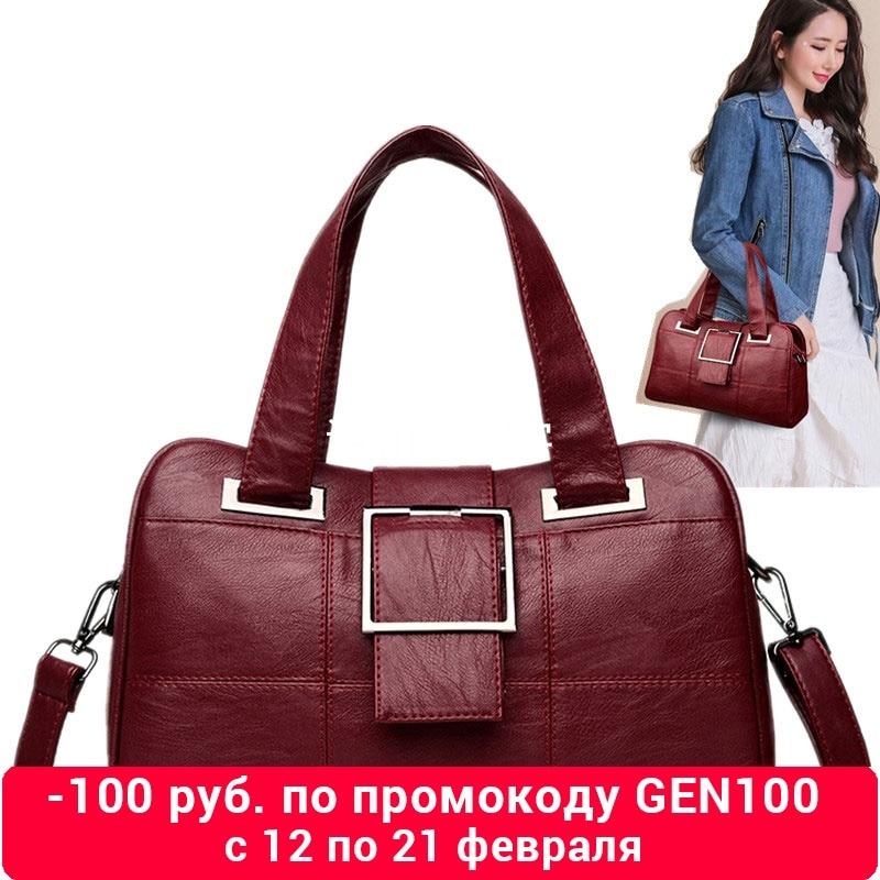 Handbags Women 2019 Fashion Luxury Shoulder Bags Genuine Leather Shopping Bag Black Zip Pocket Bag For Girl