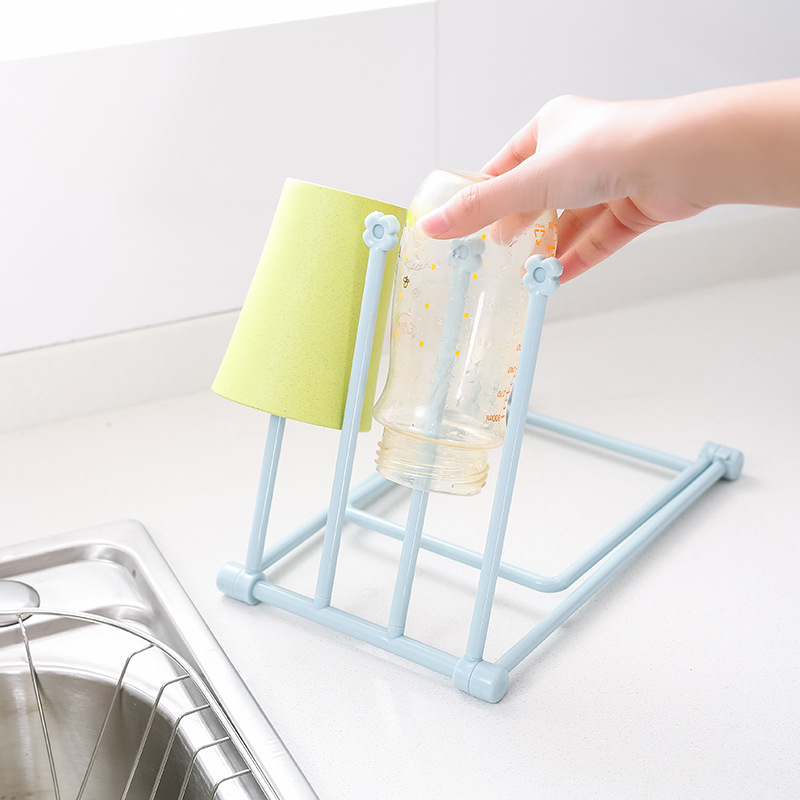 Napkin Holder Collapsible Vertical Cloth Kitchen Towel Rack Foldable Storage Rack Candy Color Cup Bottle Holder
