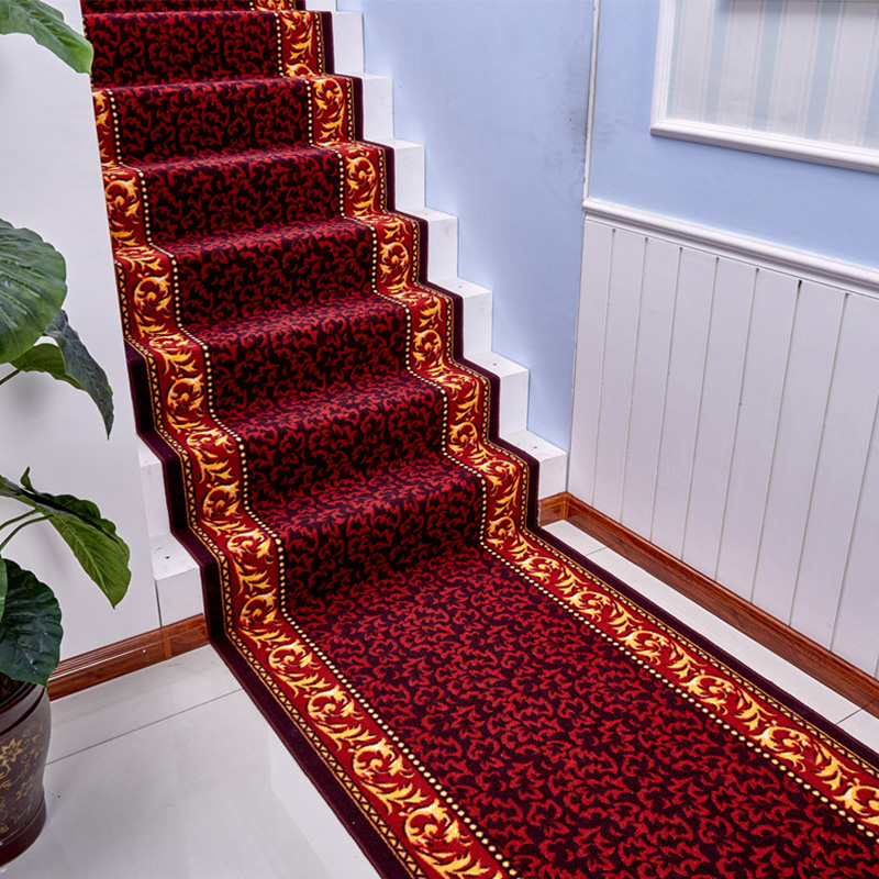 Classical European Stair Carpet Non-Slip Corridor Rug Long Hotel Aisle Carpet Bedroom Mat Carpet Hallway Floor Mat Area Rugs