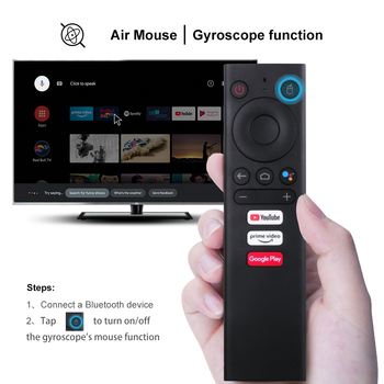 Meccol V01 Air Mouse With Gyroscope Bluetooth IR Learning Voice Remote Control For Android10.0 KM1 KM3 Smart Android TV Box