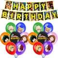 1 комплект мой герой Шар Аниме haku с днем рождения баннер, флаг Baby Shower вечерние украшения детские игрушки для мальчиков