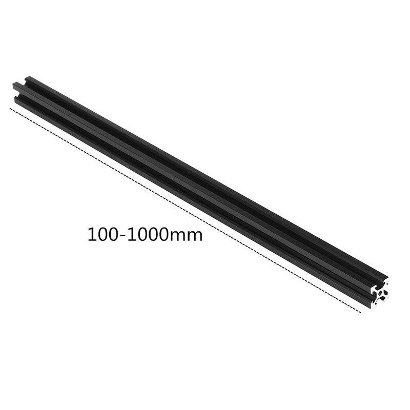100-1000mm Black 2020 V-Slot Aluminum Profile Extrusion Frame for CNC Laser Engraving Machine 3D Printer Camera Slider Furniture