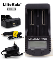 Liitokala lii-300 lcd carregador de bateria  carregando 18650 26650 16340 10440 185003.7 v bateria de lítio  tais como 1.2 v aa aaa nimh