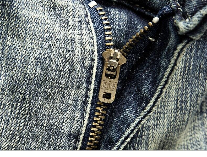 KSTUN American Streetwear Fashion Men Jeans Retro Blue Slim Fit Elastic Ripped Jeans Men Destroyed Denim Pants Printing Hip Hop Jeans 15