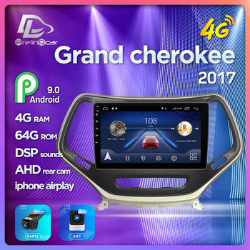 Prelingcar Android 9.0 NO DVD 2 Din Car Radio Multimedia Video Player Navigation GPS For Jeep Grand Cherokee 5 KL 14 15 16 17 18 image