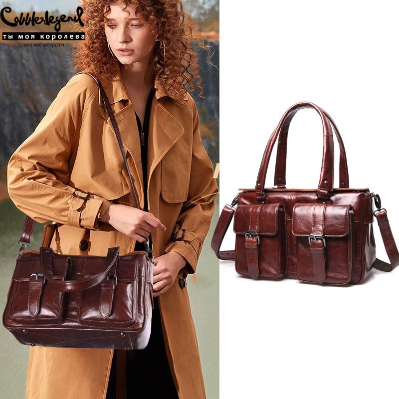 Cobbler Legend Tote Bags For Women 2019 Handbag Genuine Leather Hobo Bag Crossbody Shoulder Bag Designer Messenger Bag Bolsas